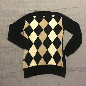 Banana Republic Cashmere Argyle Sweater - Adorable